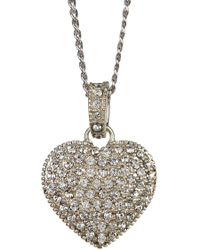 Judith Jack - Sterling Silver Crystal & Marcastie Reversible Rounded Heart Pendant Necklace - Lyst