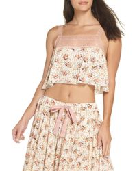 Free People - Intimately Fp Lovelorn Cropped Pajama Camisole - Lyst