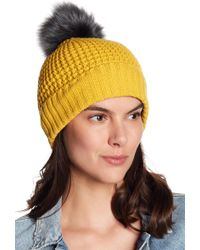 NORLA HATS - Homeward Faux Fur Pompom Beanie - Lyst