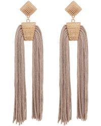 Panacea - Textured Tassel Drop Earrings - Lyst