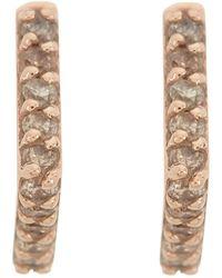 Paige Novick - 14k Rose Gold Diamond Stud Earring - 0.05 Ctw - Lyst