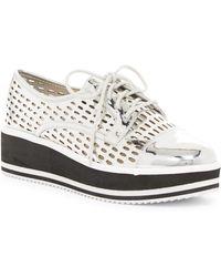 Fergie - Dolly Laser-cut Platform Sneaker - Lyst