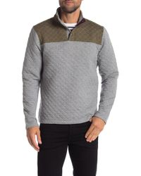 Tailor Vintage - Quilted Mock Neck Sweater - Lyst