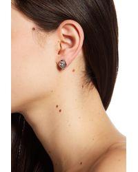 Vince Camuto - Multi Cut Crystal Stud Earrings - Lyst