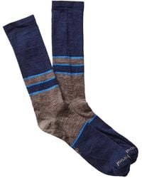 Smartwool - Colorblock Denim Crew Socks - Lyst