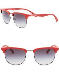 Emporio Armani - 52mm Square Sunglasses - Lyst