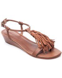 Bernardo - Footwear Court Fringe Leather Sandal - Lyst