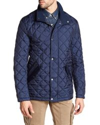 Cole Haan - Quilted Ribbed Collar Jacket - Lyst