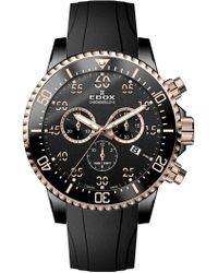 EDOX Watches - Men's Chronorally-s Stainless Steel Bracelet Watch, 44mm - Lyst