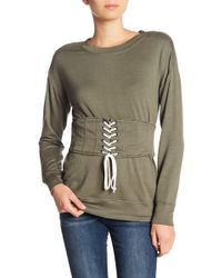 William Rast - Corset Long Sleeve Pullover - Lyst