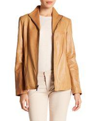 Cole Haan - Zip-up Lamb Leather Jacket - Lyst