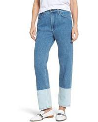 Rag & Bone - High Waist Straight Leg Jeans - Lyst