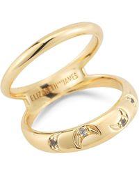Elizabeth and James - Azure White Topaz Moon Split Shank Ring - Lyst