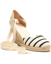 a44443485d8 Soludos - Striped Tall Espadrille Wedge - Lyst