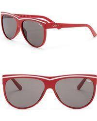 Quay - Hollywood Nights 55mm Shield Sunglasses - Lyst