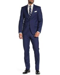 c2236083 Tommy Hilfiger Adams Modern Fit Th Flex Performance Wool Blend Sharkskin  Suit Separates Jacket in Blue for Men - Lyst