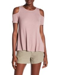 Michael Stars - Ribbed Cold Shoulder Top - Lyst