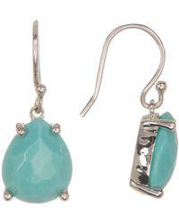 Ippolita - Sterling Silver Prong Set Teardrop Cut Turquoise Dangle Earrings - Lyst
