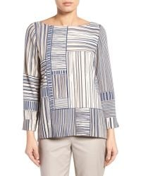 NIC+ZOE - Lined Up Stripe Top - Lyst