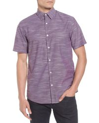 Calibrate - Calilbrate Slim Fit Slub Woven Shirt - Lyst