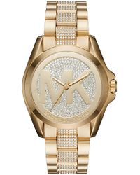 MICHAEL Michael Kors - Women's Bradshaw Crystal Accented Bracelet Watch, 40mm - Lyst