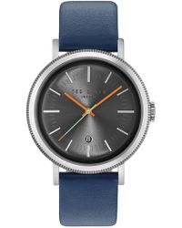 Ted Baker - Men's Connor Leather Watch - Lyst