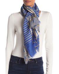 La Fiorentina - Stripe & Chain Frayed Scarf - Lyst