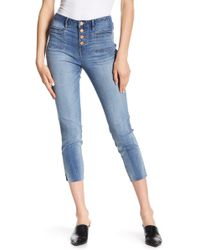 William Rast - High Rise Cropped Jeans - Lyst