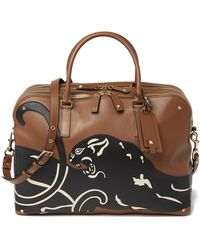 Valentino - Jaguar Leather Briefcase - Lyst