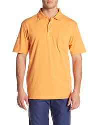 Peter Millar - Seaside Wash Pocket Solid Polo - Lyst