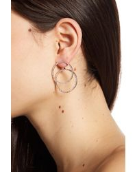Vince Camuto - Pave Crystal Double Hoop Earring Jackets - Lyst