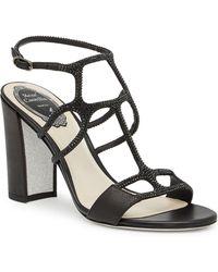 Rene Caovilla - Crystal Embellished Sandal - Lyst
