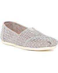TOMS | Crochet Lace Alpargata Slip-on Flat | Lyst
