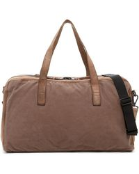 AllSaints | Aichi Cow Leather Trim Holdall Bag | Lyst