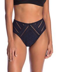 Robin Piccone - Clarissa High Waist Crochet Swim Bottoms - Lyst