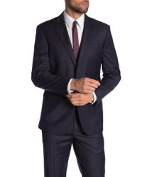 Brooks Brothers - Navy Plaid Two Button Notch Lapel Regent Fit Blazer - Lyst