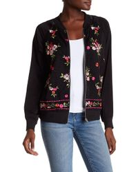 West Kei - Mesh Floral Embroidery Bomber Jacket - Lyst