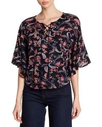 Lucky Brand - Paisley Printed Ruffle Sleeve Blouse - Lyst