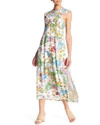 Lush - Smocked Bodice Maxi Dress - Lyst