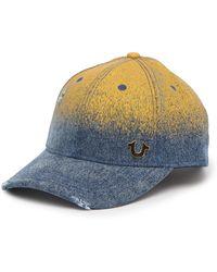True Religion - Rusty Metallic Baseball Cap - Lyst