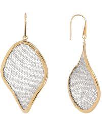 Adami & Martucci - Two-tone Woven Detail Drop Earrings - Lyst