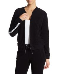 Marc New York - Terry Cloth Striped Sleeve Bomber Jacket - Lyst