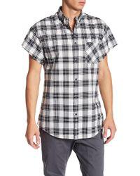 Zanerobe - Rugger Plaid Cut Sleeve Regular Fit Shirt - Lyst