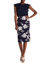 Eci - Embroidered Midi Skirt - Lyst