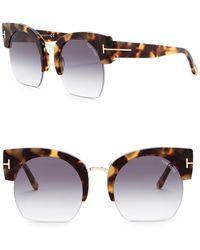 Tom Ford - Savannah 55mm Clubmaster Sunglasses - Lyst