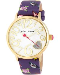 Betsey Johnson - Women's Printed Leather Watch - Lyst