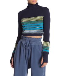 Free People - Mountain Mama Layering Crop Pullover - Lyst