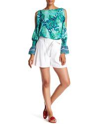 Laundry by Shelli Segal - Tie Waist Linen Blend Shorts - Lyst