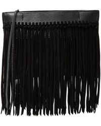 7b92f65644ed4 Diane von Furstenberg Agent Riley Fringe Zip On Clutch in Green - Lyst