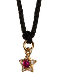 Elizabeth and James - Bassa White Topaz & Created Ruby Star Pendant Necklace - Lyst